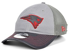New England Patriots Gray Pop Trucker 9TWENTY Cap
