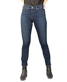 Elyse Mid-Rise Straight-Leg Jeans