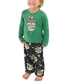 Matching Toddler Holiday Baby Yoda Family Pajama Set