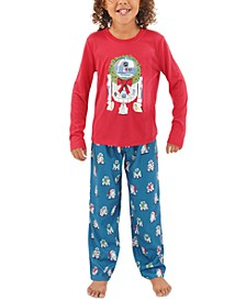 Matching Kids R2-D2 Holiday Wreath Family Pajama Set