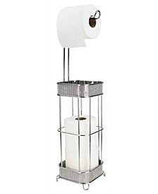 Diamond Collection Free-Standing Dispensing Toilet Paper Holder