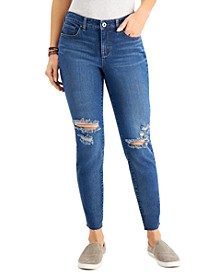 Curvy-Fit Ripped Skinny Jeans, Created for Macy's