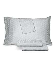 AQ Textiles Woven Jacquard 4 pc Queen Sheet Set, 500 Thread Count