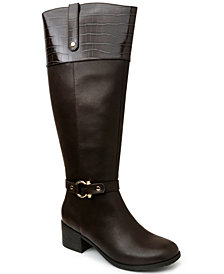 Karen Scott Vickyy Extended Wide-Calf Riding Boots, Created for Macy's