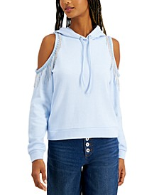 INC Cold-Shoulder Fringe Hoodie, Created for Macy's