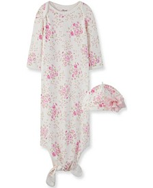 Little  Me Baby Girl Blossom Gown and Hat