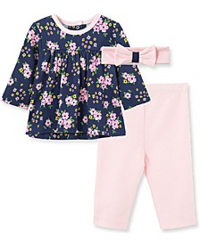 Litte Me Baby Girl Floral Tunic Set and Headband