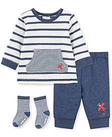 Little  Me Baby Boy and Girl Airplane Jogger Set and Sock