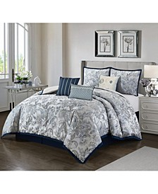 America Elisia 7 Piece Comforter Set, Queen