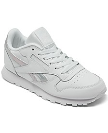 Big Girls Classic Leather Casual Sneakers from Finish Line