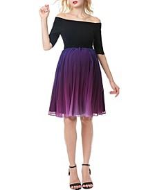 Carolina Convertible Off Shoulder Ombre Maternity Dress