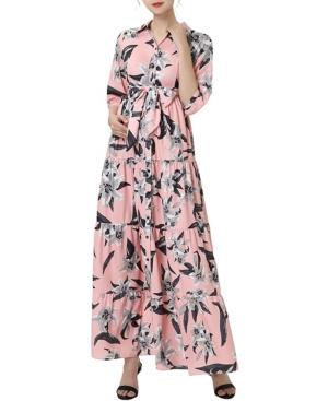 kimi + kai Cora Maternity or Nursing Maxi Shirt Dress