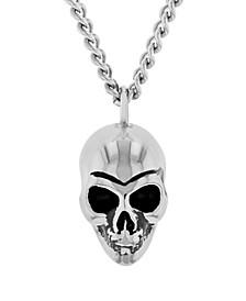 Men's Skull Pendant Necklace in Stainless Steel