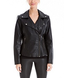 Women's Leatherette Moto Jacket (67% Off) -- Comparable Value $120