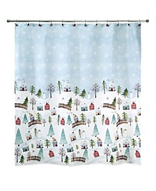 "Christmas Village 72"" x 72"" Shower Curtain"