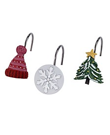 Snowy Friends Shower Hooks