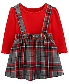 Baby Girl 2-Piece Bodysuit & Plaid Jumper Set