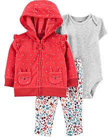 Baby Girl 3-Piece Fleece Little Jacket Set