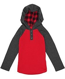 Little Boys Long Sleeve Hooded Thermal