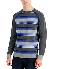 Men's Striped Raglan Sweater, Created for Macy's