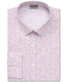 Men's Slim-Fit All Day Flex Performance Stretch Printed Dress Shirt