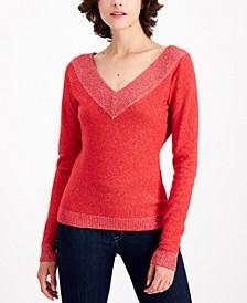 Metallic-Trim Sweater