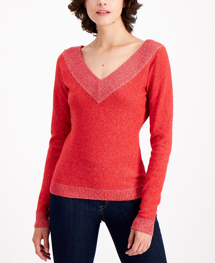 Palette - Metallic-Trim Sweater