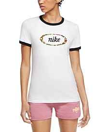 Sportswear Cotton Logo Ringer T-Shirt