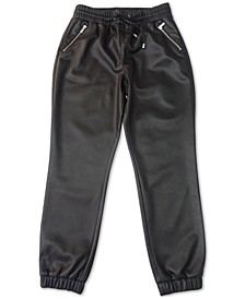 Faux Leather Jogger Pants, Created for Macy's