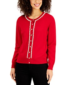 Beaded Button Cardigan, Created for Macy's