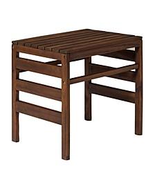 Modular Outdoor Acacia Side Table