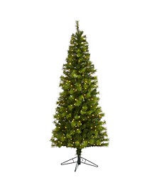 Valley Pine Artificial Christmas Tree with 300 Warm LED Lights and 579 Bendable Branches