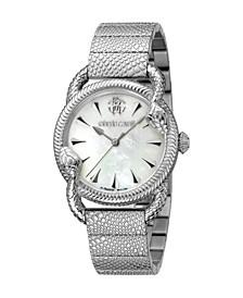 by Franck Muller Women's Swiss Quartz Silver-Tone Stainless Steel Bracelet Watch 34mm