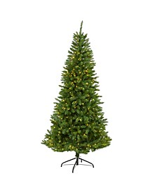 Valley Fir Artificial Christmas Tree with 350 Clear LED Lights 1125 Bendable Branches