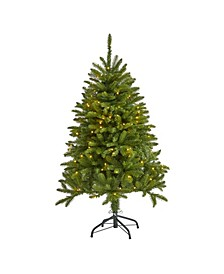 "Sierra Spruce ""Natural Look"" Artificial Christmas Tree with 150 Clear LED Lights"