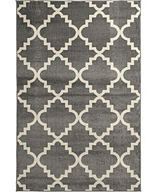 "Tropicana Taza Gray 6'7"" x 9'6"" Area Rug"