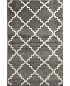 "Portland Textiles Tropicana Taza Gray 6'7"" x 9'6"" Area Rug"