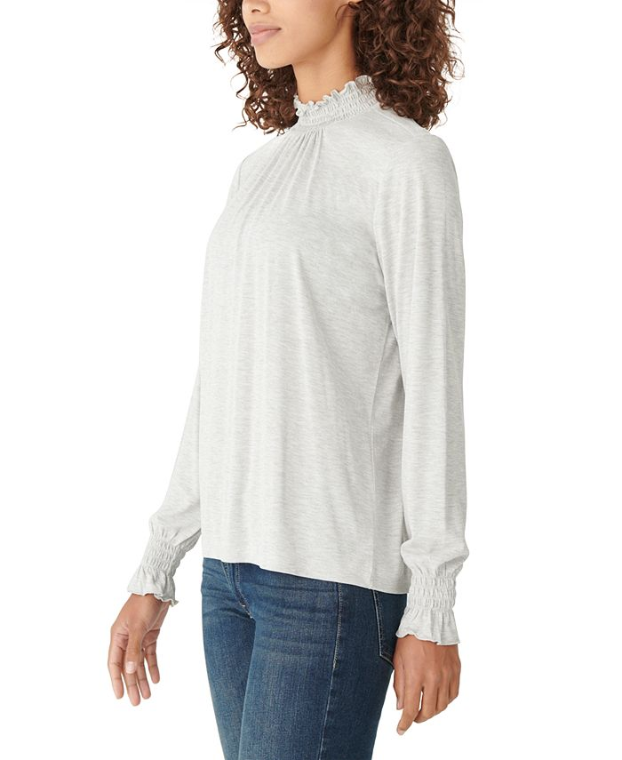 Lucky Brand - Smocked Long Sleeve Top