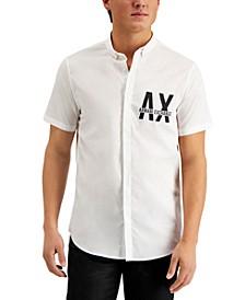 Men's Slim-Fit Logo Woven Short Sleeve Shirt, Created for Macy's