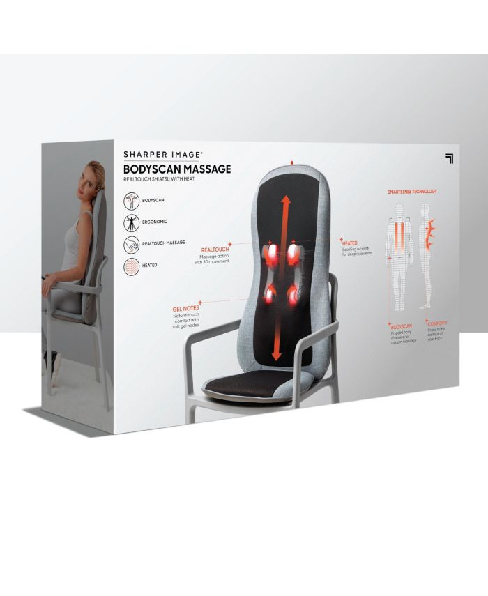 Sharper Image Smart-sense Shiatsu Realtouch Chair Pad, Soothing Heat, 4 Deep Kneading Gel Nodes, Pain Relief for Neck, Back, Shoulders, Lumbar, Pressure Points Body Scan & Reviews - Wellness  - Bed & Bath - Macy's