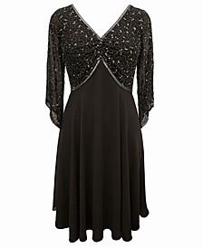 Embellished Chiffon Dress