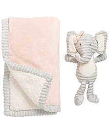 Chick Pea Baby Girl 2pc Plush Blanket Set