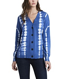 Women's Cotton Gradient Open-Front Cardigan