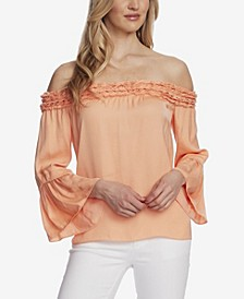 Women's Bell Sleeve Off Shoulder Blouse