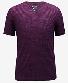 Men's Split-Neck Ribbed T-Shirt, Created for Macy's