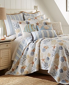Coral Sealife Quilt Set, Full/Queen