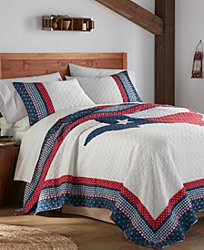 Texas Flag Quilt Set, King