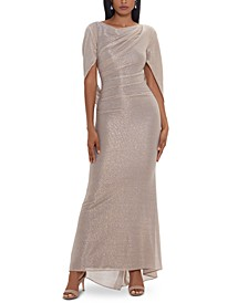 Metallic Cape Gown