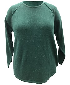 Plus Size Curved-Hem Sweater, Created for Macy's