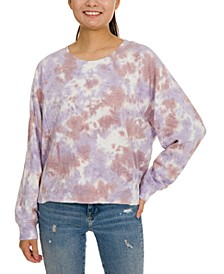Juniors' Tie-Dye Sweatshirt